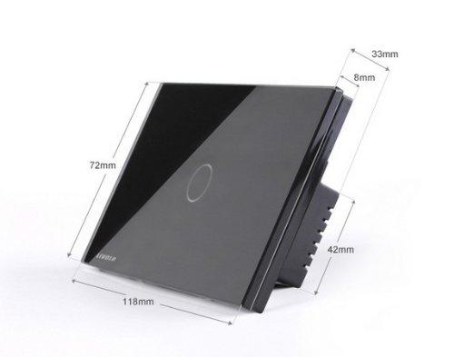 US/AU Standard, Remote Switch, Black Crystal Glass Panel, Wall Light Remote Dimmer Switch, VL-C301DR-82 by NIMTEK (Image #2)