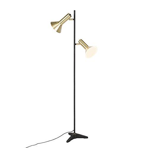 QAZQA Moderno Lámpara de pie moderna latón 2 luces - SPEAKER ...