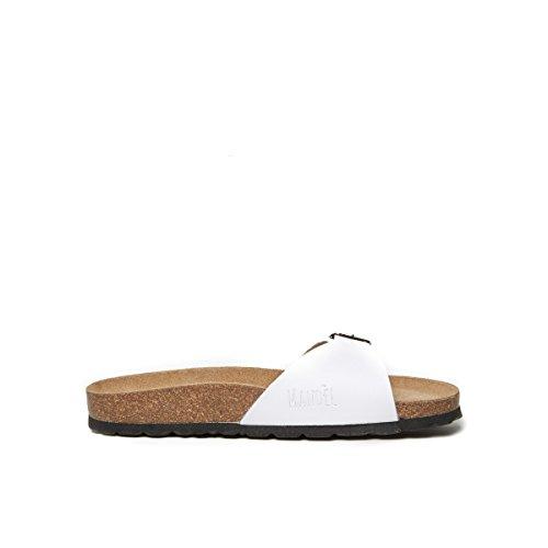 Mandèl Women's SANDALO Fashion Sandals White Bianco HnbAnl86