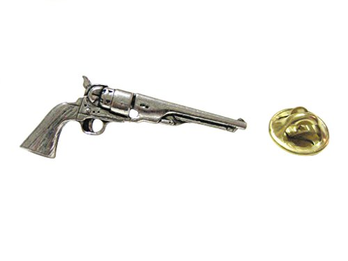 Antique Revolver Pistol Gun Lapel Pin
