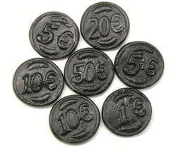 (Black Licorice Coins: 6.6LB Case)