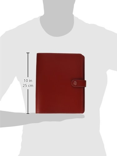 Filofax The Original Leather A5 Pillar Box Red Organizer Agenda Diary 2016 + 2017 Calendar Ring Binder with DiLoro Jot Pad refill 022381
