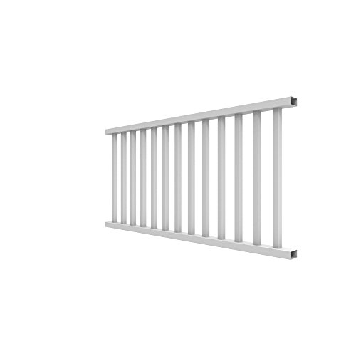 Aluminum Deck Railings - YardSmart 73012418 Select Rail Square Bal Vinyl Railing, 6' x 36', White