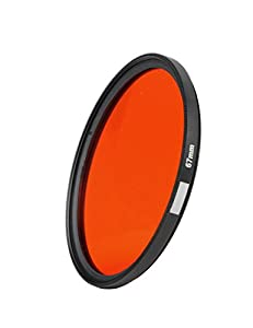 Minifocus Red Diving Filter 67mm for Underwater Photography Camera Waterproof Housing Flip Adapter With Thread Mount (Red)