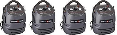 PORTER-CABLE CMB15 1.5 Gallon Oil-Free Fully Shrouded Hand Carry Compressor Kit with 25 Hose 4- Pack