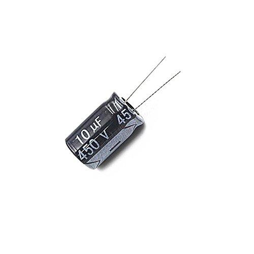 Quickbuying 20pcs 10uF 450V Electrolytic Capacitor 450V10UF 13x21mm NEW