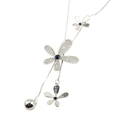 Trendy Crystal Long All-Match Style Leaf Bowknot Flower Clothing Sweater Chain Necklace Jewelry Crafting Key Chain Bracelet Pendants Accessories Best| Item - 3 Flower Beveled Leaf Collection Pendant