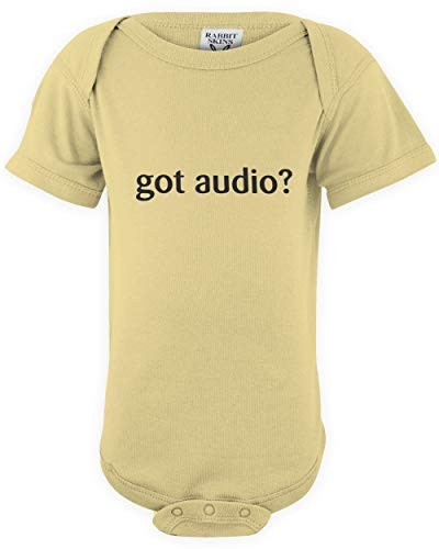 shirtloco Baby Got Audio Infant Bodysuit, Banana 6 Months