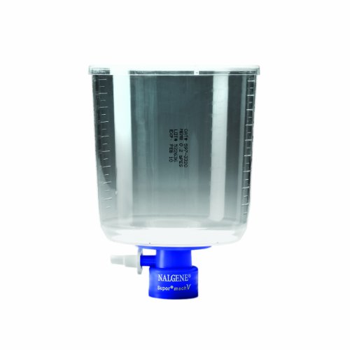 Nalgene MF75 Series Bottle Top Filter, Supor machV membrane, Fits 45mm Media Bottle Neck, 0.2 Micron, 90mm Membrane Diameter, 1000mL Capacity (Case of 12) by Nalgene