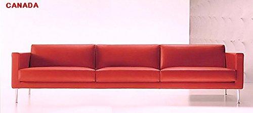 Calia Maddalena–Sofa Design Kanada Leder Buffalo Divano 2 posti - 172x72x98 cm Pelle Buffalo Verde