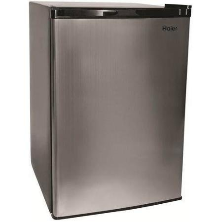 Haier HC46SF10SV Compact Refrigerator Small Stainless Steel by Haier