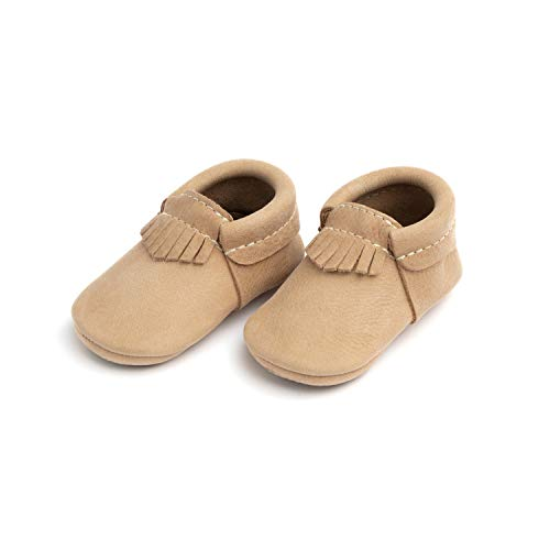Freshly Picked - Soft Sole Leather City Moccasins - Baby Girl Boy Shoes - Size 3 Weathered Brown (Freshly Picked)