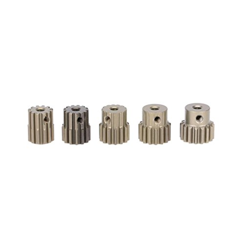 Dreamyth GoolRC 32DP 3.175mm 12T 13T 14T 15T 16T Pinion Motor Gear Set for 1/10 RC Car Brushed Brushless Motor (Silver) (15t Gear)