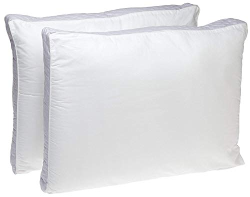 Perfect Fit | Gusseted Quilted Pillow, Hypoallergenic, 233 Thread-Count, Extra Firm Density, Set of 2 (Side Sleeper, Queen) ()
