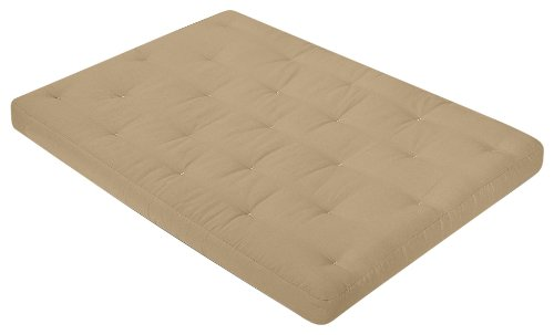 Serta Pinehurst Double Sided Foam and Cotton Queen Futon Mattress, Khaki, Made in the USA