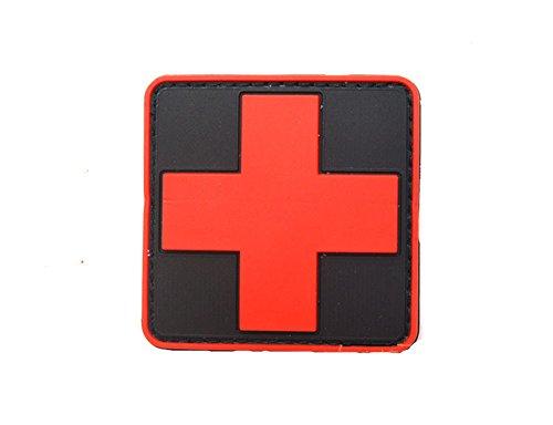 Horizon Medic Cross Tactical PVC Patch - Red&Black