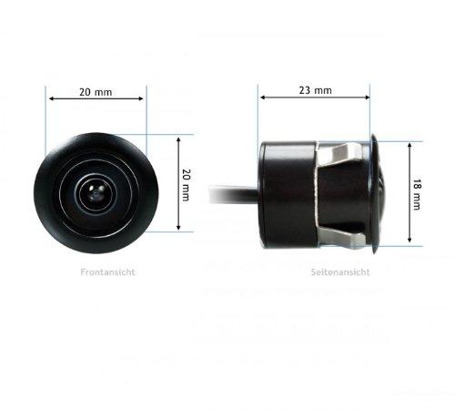 id/éale pour garer votre voiture Pratique et fiable Angle de vision : 170/° XOMAX XM-011 Mini cam/éra de recul