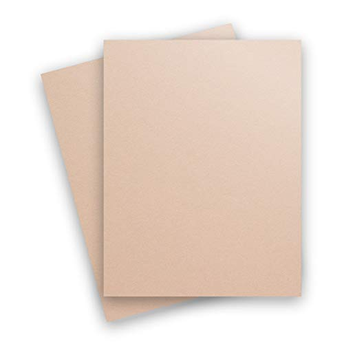 Metallic Nude 8-1/2-x-11 Lightweight 32T Multi-use Paper 50-pk - PaperPapers 118 GSM (32/80lb Text) Letter Size Everyday Paper - Professionals, Designers, Crafters and DIY - Cardstock Curious Paper Metallic