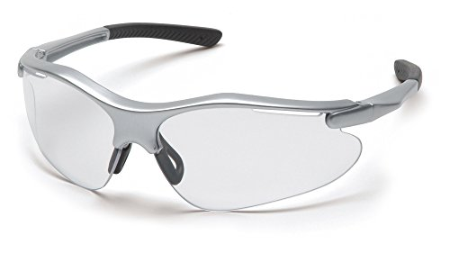 Pyramex Fortress Safety Eyewear – Superior Comfort and Fit – 99% Protection Against UV-A, B and C Rays – Glare and Scratch Resistant – Rubber Temple Tips – Adjustable Rubber - Rubber Nose Pads