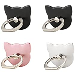 Lenoup Cat Cell Phone Holder, 360° Rotation Phone Ring Kickstand