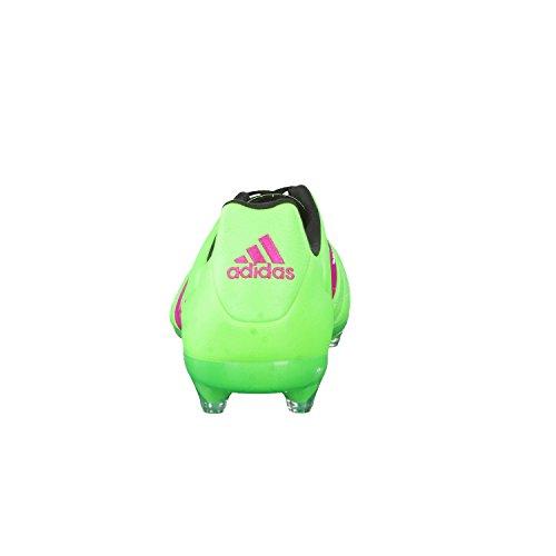 adidas Ace 16.2 FG/AG Leather, Scarpe da Calcio Uomo Grün / Pink / Schwarz (Versol / Rosimp / Negbas)