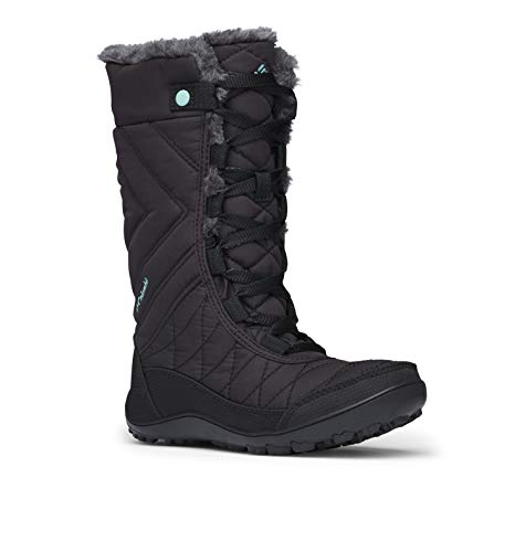 Columbia Girls' Youth Minx MID III Waterproof Omni-Heat Snow Boot, Black, Iceberg, 5 Regular US Big Kid - Iii Snow Boot