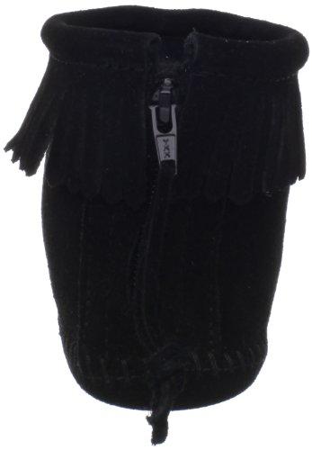 Minnetonka Womens Dos-fermeture À Glissière Bootie Noir (noir)