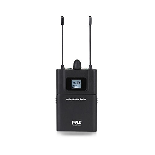 (PRTPDWMN49REI Beltpack Transmitter Wireless Microphone - UHF 32-Channels System Set with Headset and Lapel Microphones, Perfect for Karaoke Music and Conference, Clip-on Lavalier -)