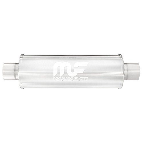 Magnaflow 12619 Satin Stainless Steel 3 Center Round Muffler by Magnaflow