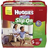 Huggies Little Movers Slip-On Diapers Big Pack – Size 5 50ct., Health Care Stuffs