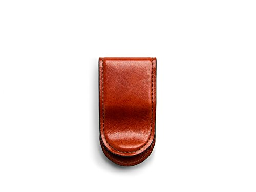 Mens Leather Covered Money Clip - Bosca Old Leather Covered Money Clip (One size, Cognac)