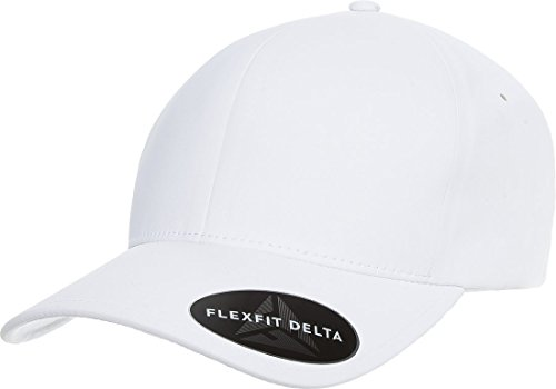 Flexfit Delta 180 Premium Baseball Cap Small/Medium White (Baseball 180)