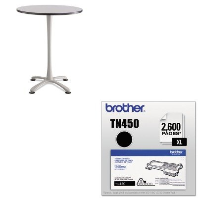 KITBRTTN450SAF2463SL - Value Kit - Safco Cha-Cha Bistro Height Table Base (SAF2463SL) and Brother TN450 TN-450 High-Yield Toner (BRTTN450) by Safco