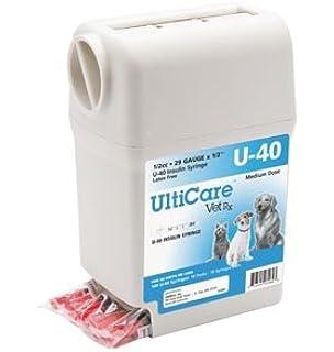 ULTIMED ULTRICARE VETRX DIABETES CARE INSULIN SYRINGES UltiGuard U-40 Syringe Dispenser, 29G x