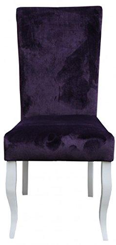 Casa-Padrino silla de comedor púrpura/blanco sin brazos ...