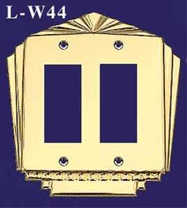 アールデコスタイルダブルGFIスイッチプレートカバー( l-w44 l-w44 ) ) B00DC6EZIW B00DC6EZIW, 税務会計ソフト NJ Direct Shop:5d25d8fa --- number-directory.top