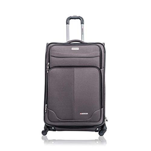 SKROSS Charcoal 24″ Upright Rolling Suitcase