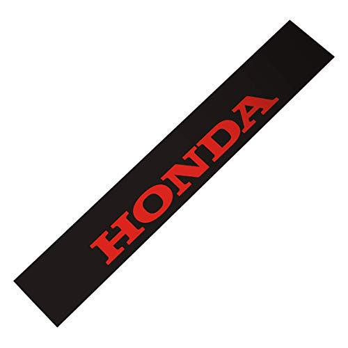 Demupai Front Windshield Decal windscreen sticker For Honda MARK (Matte Black Background + Red Letter)