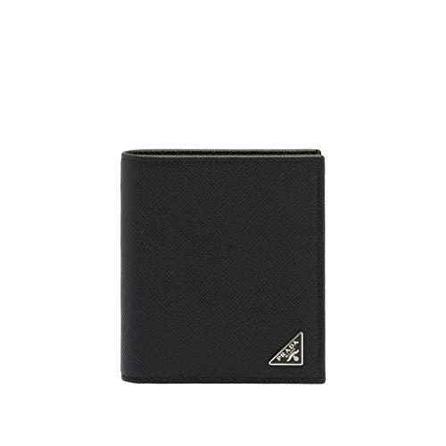 Prada Men's 2Mo004qhhf0002 Black Leather Wallet