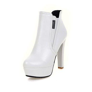 Botas de Mujer Otoño Invierno Comfort polipiel vestir casual hebilla Stiletto talón caminando Black