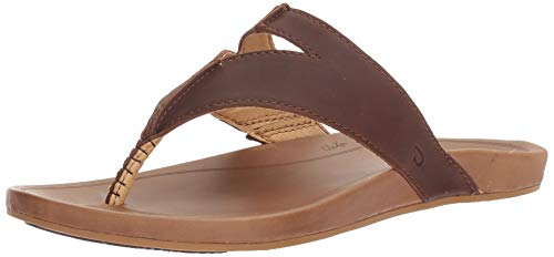 OLUKAI Women's Lala Sandals, Kona Coffee/Tan, 8 M US