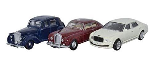 Oxford Diecast 76SET27 3 Piece Bentley Set MkVI Continental Mulsanne 1:76 -
