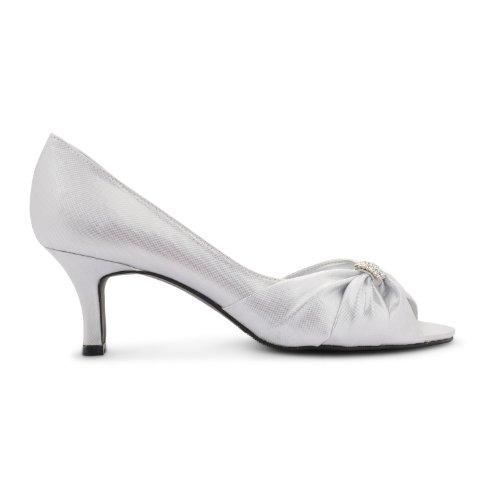 COOLCEPT Mujer Comodo Criss Cross Zapatos Punta Abierta Cremallera Solid Tacon de Vaquero Sandalias (35 EU, Champagne)