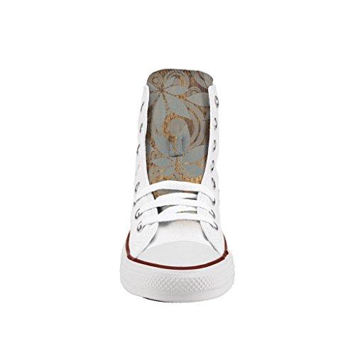 Converse Personalizzate All Star Alta - scarpe artigianali - stampa Gold paint El Más Nuevo x4i86eB01Z