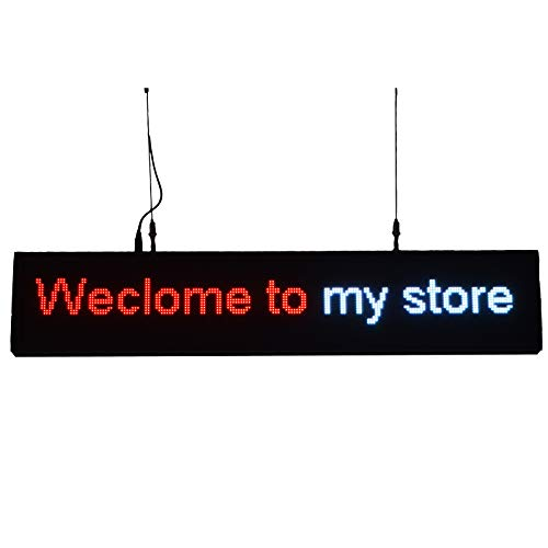 39''x7.6'' Programmable LED Sign for Store P5 Rainbow Scrolling Words WiFi Upload by Sheen Sign (Image #2)