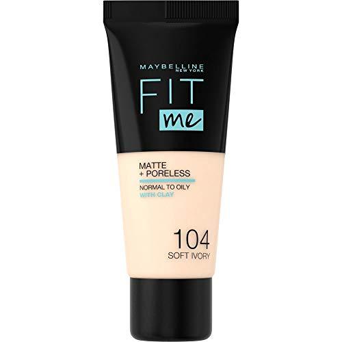 Maybelline New York Fit Me Matte & Poreless Foundation 104 Soft Ivory 30ml