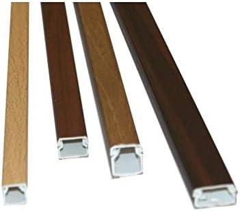 Medidas 15x10x2000 mm Canaleta adhesiva para cable el/éctrico imitaci/ón madera de nogal
