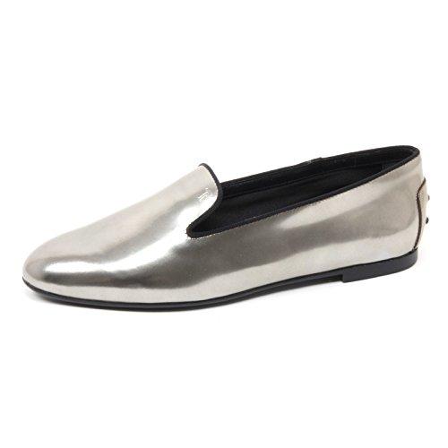 Platino Shoe Tod's Donna B4506 Loafer Pantofola Mocassino Scarpa Woman qxfU4X