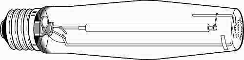 Sylvania Lumalux Ecologic High Pressure Sodium Lamp, Et18, 400 Watt, 100 Volts, E39 Mogul, Clear