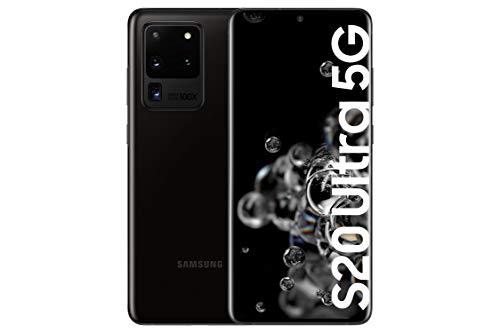 Samsung Galaxy S20 Ultra 5G – Smartphone 6.9″ Dynamic AMOLED (12GB RAM, 128GB ROM, cámara 108MP gran angular, Octa-core Exynos 990, 5000mAh batería, carga ultra rápida) Cosmic Black [Versión española]